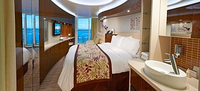 Aft cabins on celebrity equinox ship