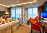 Stateroom with French balcony and outside balcony
